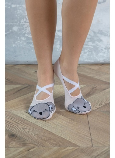 Katia & Bony Koala Desenli Kadın Görünmez Çorap - Pembe Pembe